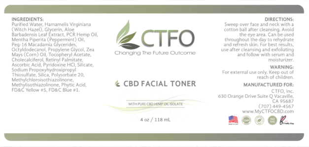 ctfo facial tonel label