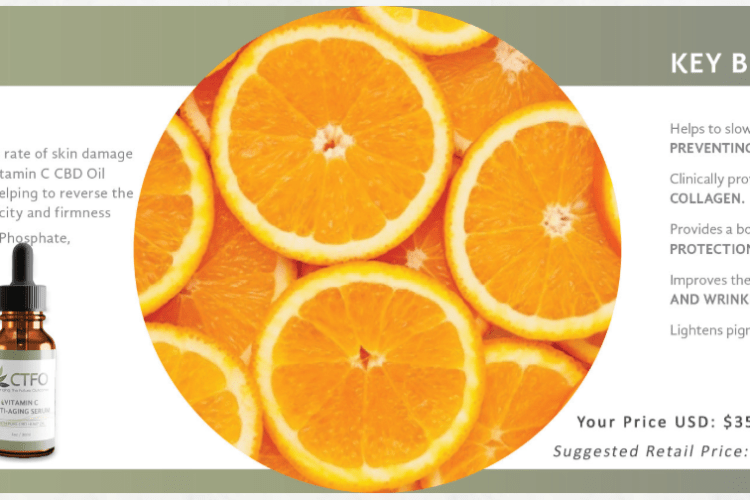 ctfo pure hemp cbd vitamin c antiaging serum