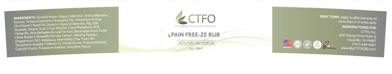 ctfo pain freeze rub label