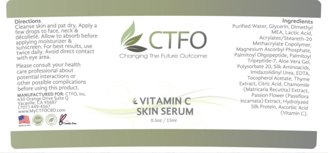 ctfo vitamin c skin serum label