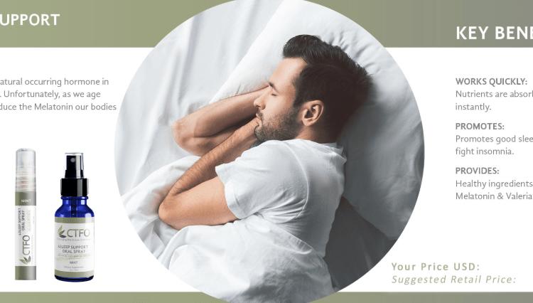 ctfo sleep oral spray image